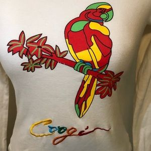 Vintage Coogi Embroidered Logo Parrot Graphic Tee